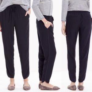 Madewell E1807 black track trousers size S